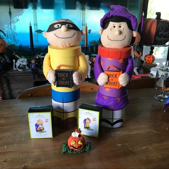 Hallmark Other - Lot Peanuts Snoopy Halloween Decor Lucy & Charlie